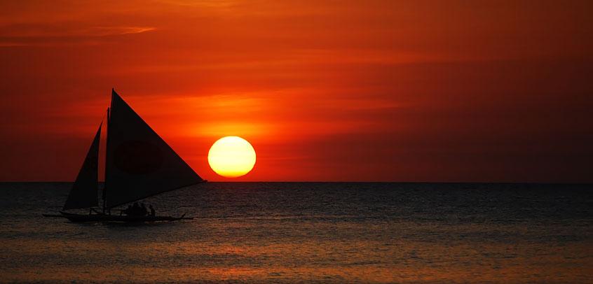 Boracay Island Girl Gone Sunset