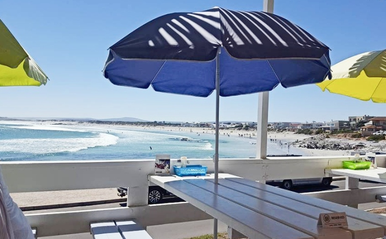 View of the sea from Beaches restaurant in Yzerfontein