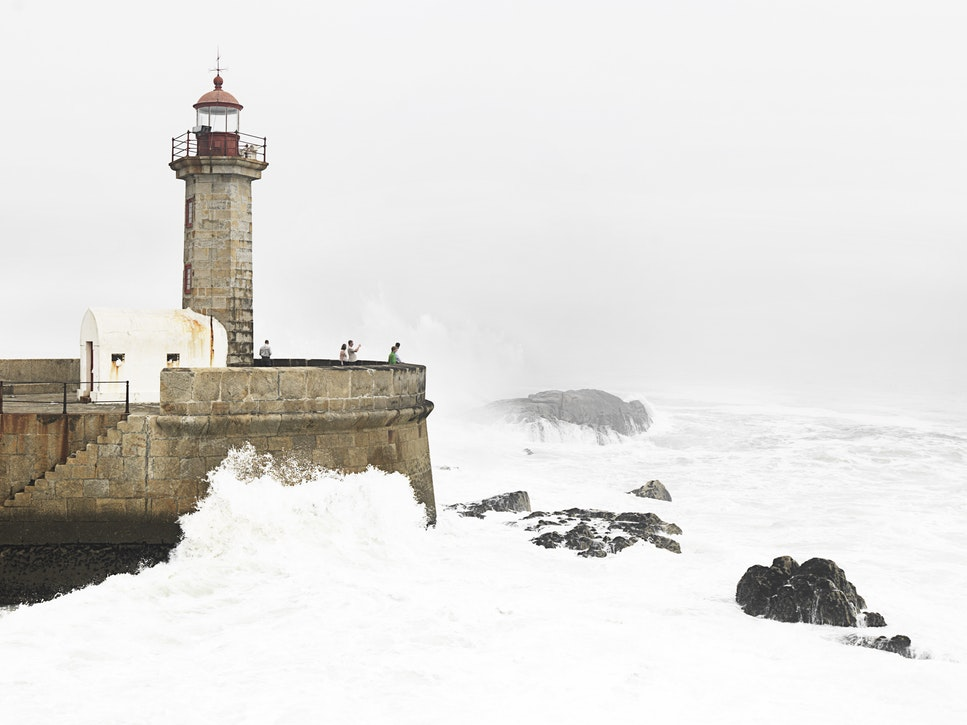 Lighthouse in Leça da Palmeira, Porto, Portugal
