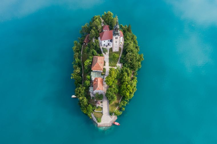 Church view of Lake Bled