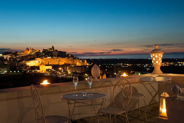 Sunset drinks in Ostuni Southern Italy
