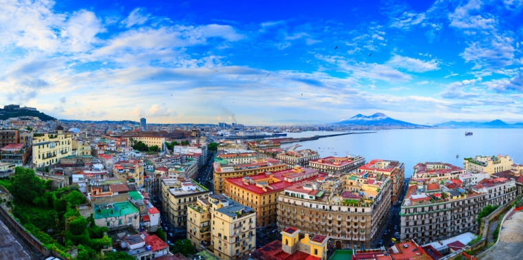 Panoramic View of Naples Southern Italy